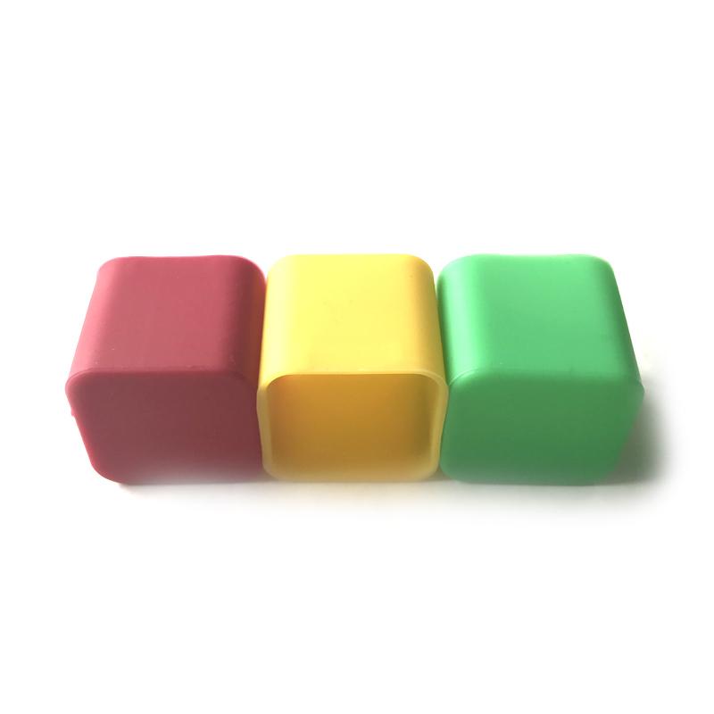 Cubierta de silicona cuadrada colorida